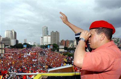 Chavez Venezuela révolution Bolivarienne Chavez_manif