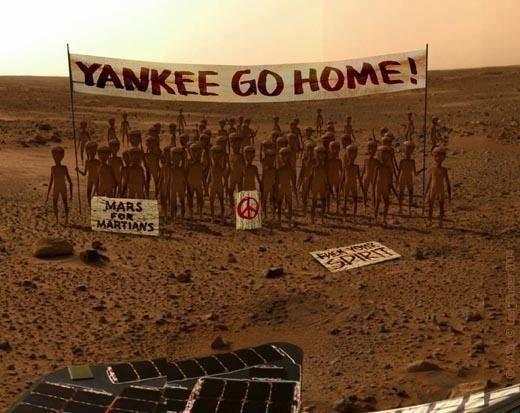 EXCLUSIF: LA PREMIERE PHOTO DE LA PLANETE MARS PRISE PAR LA SONDE